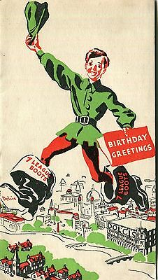 Vintage,Birthday Card,folding,DOLCIS SHOES.1940's