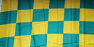 County Kerry Donegal  Letrim Checkered  Gaa  Flag  5Ft By 3Ft New Brass Eyelets