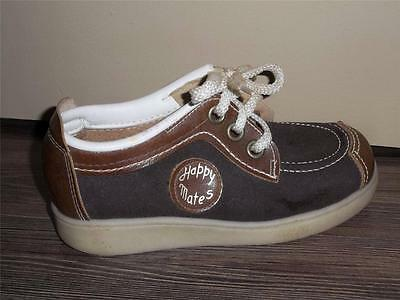 BOY'S VTG 1980s 2 TONED BROWN LACE UP SNEAKERS OR CASUAL SHOES SIZE 13 NOS