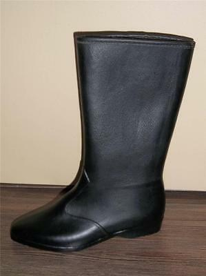 Girl's Long Black Pull On Fully Lined & Waterproof Winter Dress Boots Size 1 New