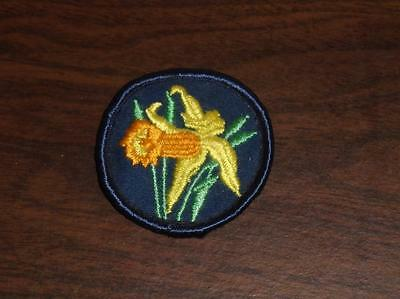 "VINTAGE 1970s GIRL GUIDES OF CANADA ""DAFFOLDIL"" BADGE TROOP BADGE USED"