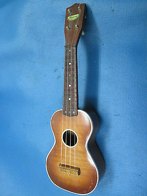 Vintage '50s Harmony USA Uke Ukulele !! GOOD POTENTIAL! MIGHT REATTACH BRIDGE
