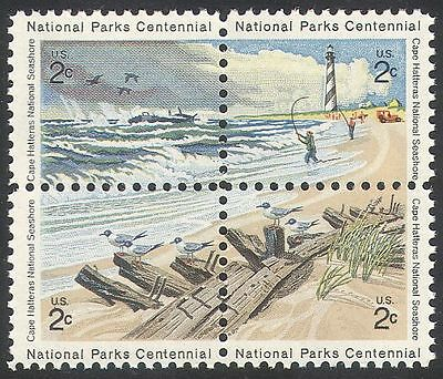 USA 1972 Cape Hatteras/National Parks/Sea/Lighthouse/Car/Ship/Birds blk n25723