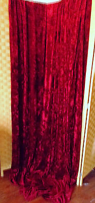 Red Crushed Velvet Door Curtain