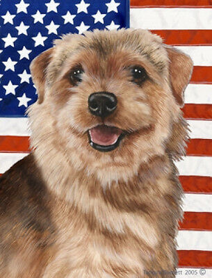 Garden Indoor/Outdoor Patriotic II Flag - Norfolk Terrier 322251