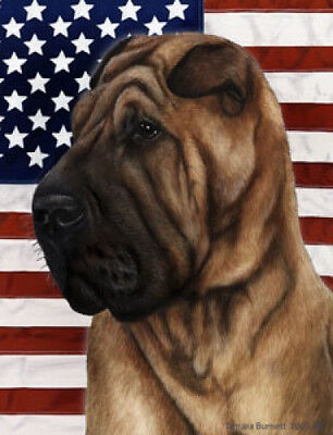 Garden Indoor/Outdoor Patriotic II Flag - Shar Pei 320531