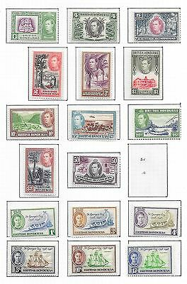 British Honduras stamps 1938 Collection of 17 stamps  MLH  VF