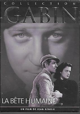 """DVD """"La bete humaine"""" collection GABIN  N 6   NEUF SOUS BLISTER"""