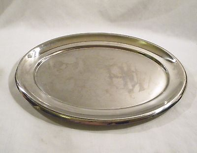"VOLLRATH #8067 Oval 17"" Stainless Steel Serving Platter/Tray"