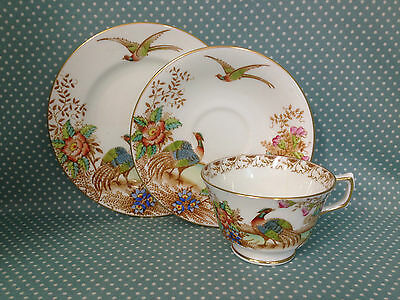 Antique Royal Sutherland China EXOTIC trio. Cup, saucer & plate.Patt no.2533.