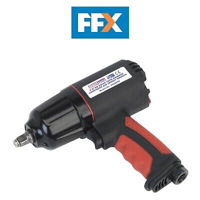 Sealey GSA6000 Composite Air Impact Wrench 3/8inSq Drive Twin Hammer