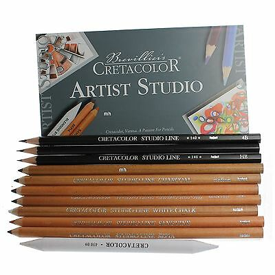 Cretacolor Artist Studio Line Drawing Set 101 charcoal chalk graded