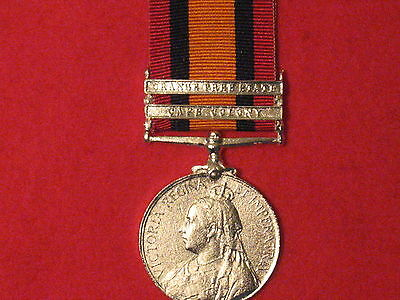 Full Size Queens South Africa Medal 2 Clasps Museum Copy Medal With Ribbon.