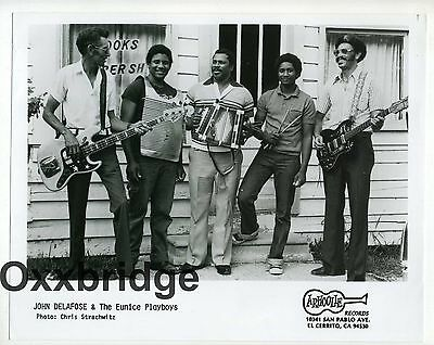 JOHN DELAFOSE & The Eunice Playboys PHOTO Zydeco Afro Funk Swamp ARHOOLIE Black