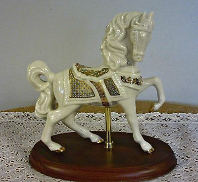 Lenox China Jewels Carousel Horse 24k cold on Porcelain Retired 1995