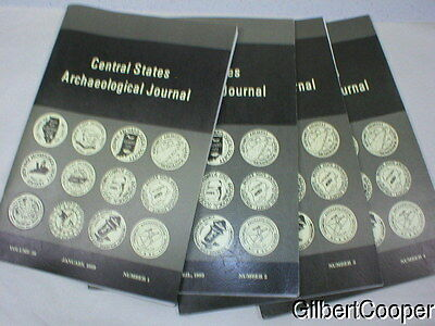 1989 CENTRAL STATES ARCHAEOLOGICAL JOURNAL -VOL 36 --1-4  complete year 4 books