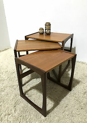 70S Original Mid Century G Plan Quadrille Nest Of 3 Tables By R Bennett In 1967