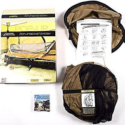 Catoma Improved Pop Up Bed Net Shelter System IBNS Insect Repellent Tenting NEW