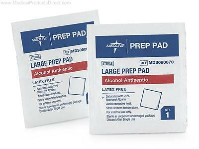 Damaged Packaging Medline Large Prep Pads Alcohol Antiseptic 100 Count