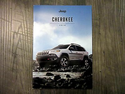 2016 JEEP CHEROKEE - Original Sales Brochure Book Catelog