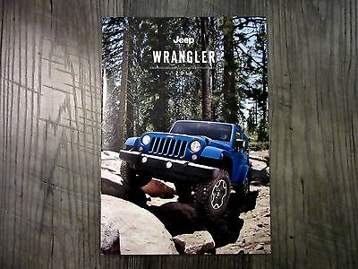 2016 JEEP WRANGLER - Original Sales Brochure Book Catelog
