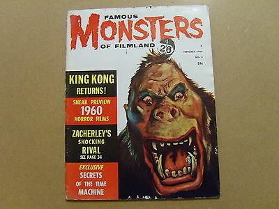 Famous Monsters Of Filmland #6 - February 1960 - Vg - King Kong - Rare