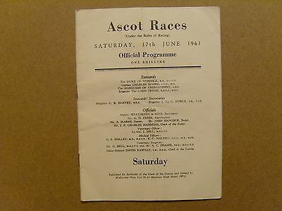 1961  ASCOT OFFICIAL RACE CARD - 17th JUNE 1961 - CHURCHILL STAKES