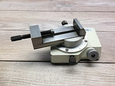 """Mitutoyo 172 144 Rotary Vise 1 1/2 X 3 1/4 """" Optical Comparator"""