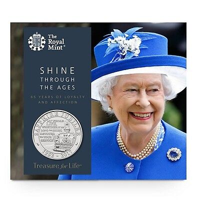 Queen's Sapphire Jubilee 2017 UK £5 Five Pound Coin Brilliant Uncirculated Coin