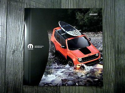 2016 JEEP RENEGADE ACCESSORIES - Original Sales Brochure Book Catelog
