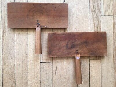 Antique Vintage Old Whittemore Cotton Carder Set No. 10 Spinning Carding