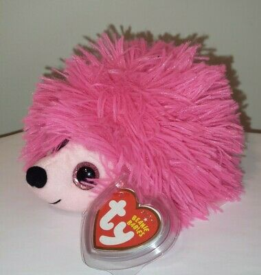 """Ty Beanie Baby ~ LILLY the 6"""" Pink Hedgehog ~ MINT with MINT TAGS ~ RETIRED"""