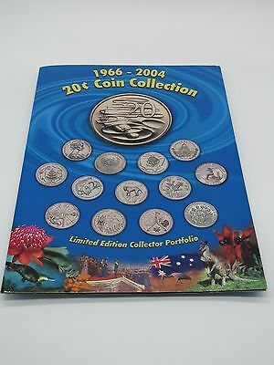 1966-2004 Australian 20c Coin Collection including federation- GREAT FOLDER