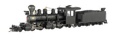 Bachmann 29001 On30 Painted & Unlettered Baldwin 2-4-4-2 w/DCC (black, graphite)