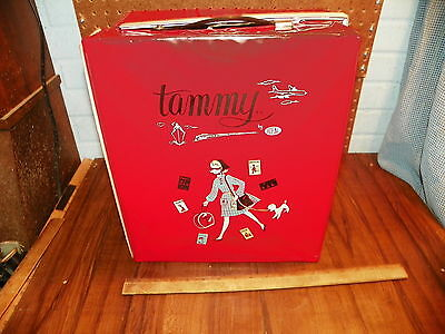 """1960s IDEAL """"TAMMY"""" Red Doll Carrying Case"""