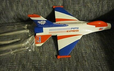 PEPSI-COLA Lockheed F-16 Fighting Falcon Diecast Airplane Bank SPEC CAST Liberty