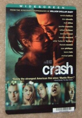 CRASH promo art card SANDRA BULLOCK - this is NOT a movie