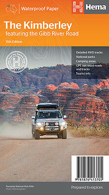 HEMA THE KIMBERLEY NEW 15th EDITON 4WD MAP FEATURING THE GIBB RIVER ROAD