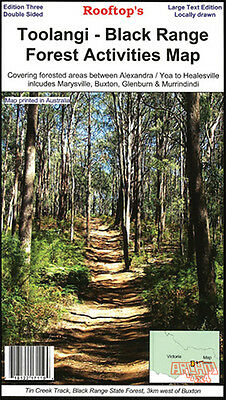 Rooftop Toolangi- Black Range Forest Activities Map- Bushwalking- 4Wd Track