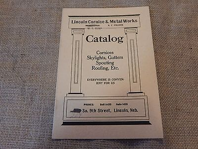 Vintage catalog Skylights Gutters Spouting Roofing Lincoln Cornice & Metal works