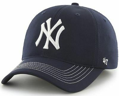 New York Yankees 47 Brand Navy Game Time Closer Stretch Fit Hat Cap