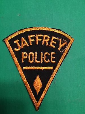 Jaffrey New Hampshire  Police  Shoulder Patch  Used Old