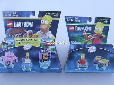 * New * Lego Movie Dimensions Homer Bart Simpsons Minifigs Sealed Box Set