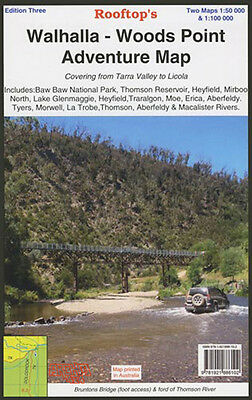 ROOFTOP'S WALHALLA - WOODS POINT ADVENTURE MAP - BUSHWALKING, CAMPING - 3rd ED