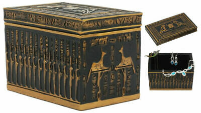 Ancient Gods Of Egypt Scarab Horus Falcon And Anubis Secret Jewelry Box Figurine
