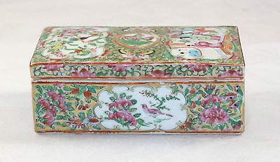 MID 19TH CENTURY CANTON FAMILLE ROSE PEN BOX af