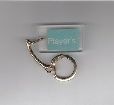 Vintage 1960s Players Cigarette Keychain Lucite Key Fob VeryNice Condition
