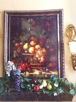 Sonoma Villa Fruit Print Home Interiors & Gifts New In Box Made In USA