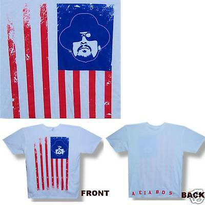 Kid Rock! American Bad Ass Flag White T-Shirt Small New