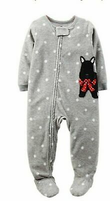 a7c1173575de CARTER S INFANT GIRLS 2-Piece Scottie Dog Cotton   Fleece Pajamas ...